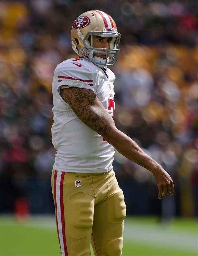 Colin+Kaepernic+at+the+2012+San+Francisco+v+Green+Bay+Game