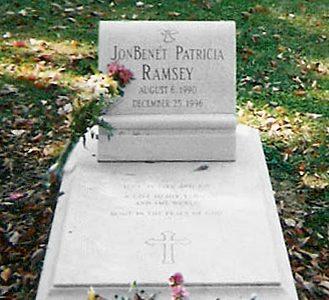 JonBenét Ramsey grave at Saint James Episcopal Cemetery in Marietta, Georgia.