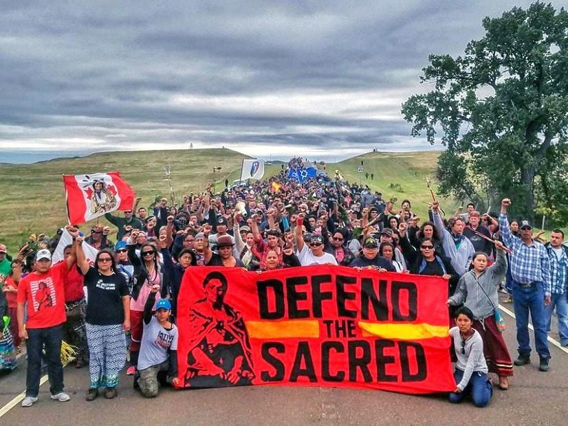 Protestors+at+Sacred+Stone+Camp+in+North+Dakota+protest+the+Dakota+Access+Pipeline.+Some+concerns+are+water+contamination+and+disturbance+of+sacred+grounds.
