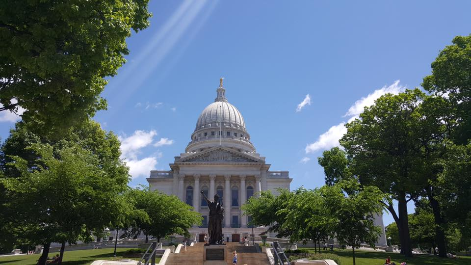 For a trip within the states, Wisconsin has more to offer than just cheese. The state capitol building was a pretty sight on June 5, 2016.
