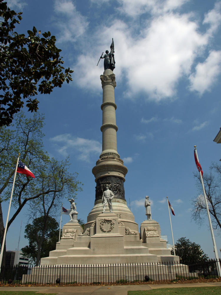 This Confederate Memorial Monument, sculpted by Alexander Doyle, sits in Montgomery, Ala.
