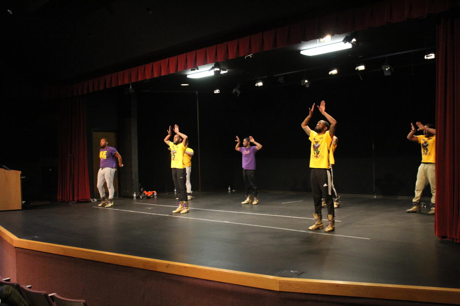 Omega Psi Phi performs at Lake Land