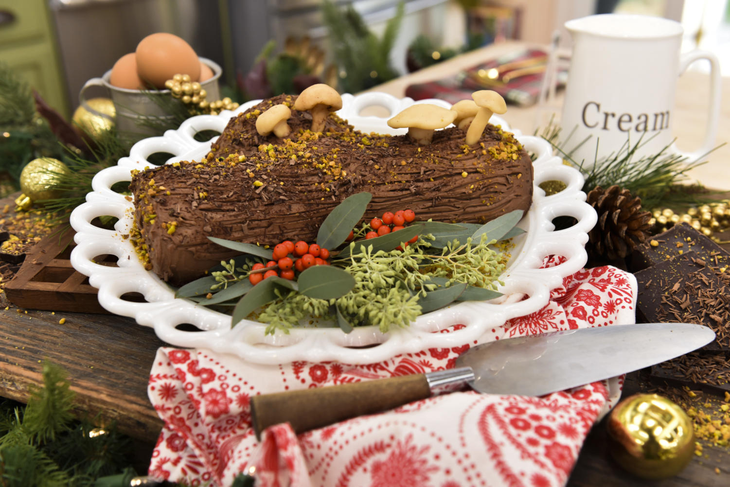 What a lovely Yule log