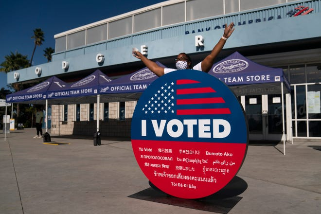 Sports arenas utilized as voting facilities