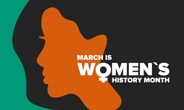 Women%27s+History+Month.+Celebrated+annual+in+March%2C+to+mark+women%E2%80%99s+contribution+to+history.+Female+symbol.+Women%27s+rights.+Girl+power+in+world.+Poster%2C+postcard%2C+banner.+Vector+illustration